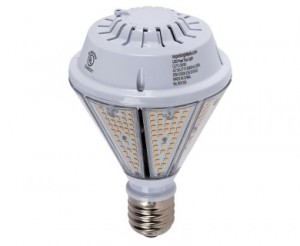 80W LED Post Top / Corn Bulb - 9,600 Lumens - 400W Equivalent Metal Halide - E39 Mogul Base - Ballast Bypass - 5000K/4000K