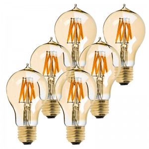 Dimmable Victorian Style in Gold Tint - 6 Pack