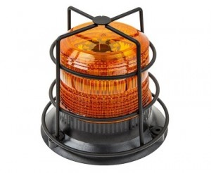"4-3/4"" Amber LED Strobe Light Caged Beacon with 60 LEDs"