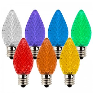 C7 LED Bulbs - Diamond Faceted Replacement Christmas Light Bulbs