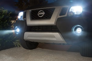 "3-1/2"" LED Projector Fog Lights Conversion Kit w/ Halo Daytime Running Lights"