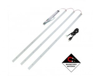 50W LED Magnetic Strip Kit - Three 4ft Pcs and LED Driver - 8,000 Lumens - Dimmable