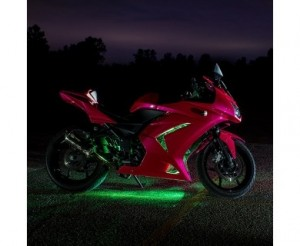 Motorcycle LED Lighting Kit - Multi-Strip Remote Activated RGB Color Changing Kit