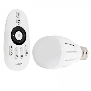 WiFi Compatible Variable Color Temperature LED Bulb, 6W w/ RF Remote