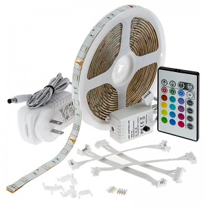 12V Outdoor Weatherproof RGB LED Strip Light Kit - 34 Lumens/ft.