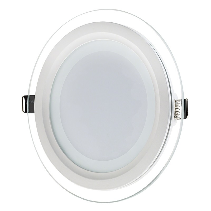6 Quot Round Led Panel Light With Edge Lit Glass Accent Light 75 Watt Equivalent Recessed Led