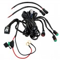 WWH-DTD30: LED Light Wiring Harness with Relay and Weatherproof Switch - Dual Output - DT Connector