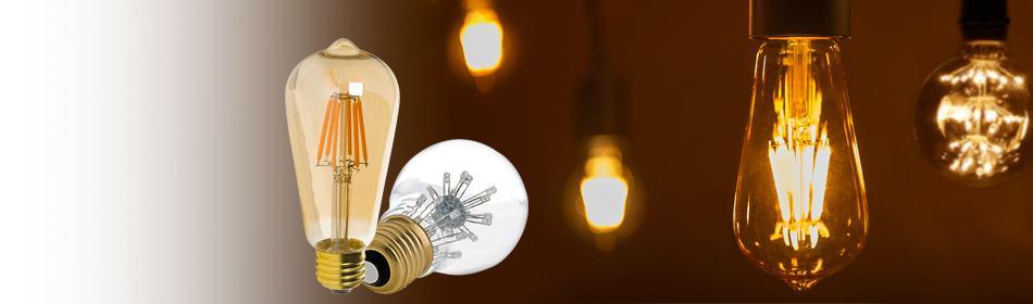 LED Vintage<br>Light Bulbs
