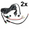 WH-DTS10 (pair): LED Light Wiring Harness with Switch and Relay - Pair - Single Channel, DT Connector